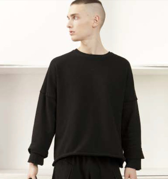 VICTIMS store - SILENT BY DAMIR DOMA TIAN CROPPED SWEATSHIRT ...