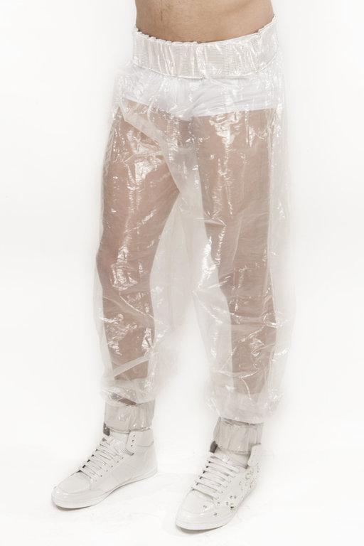 VISORIFASHIONART PANTS WHITE/TRANSPARENT