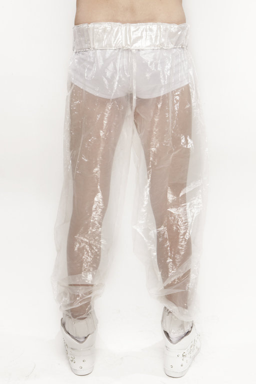 VISORIFASHIONART PANTS WHITE/TRANSPARENT