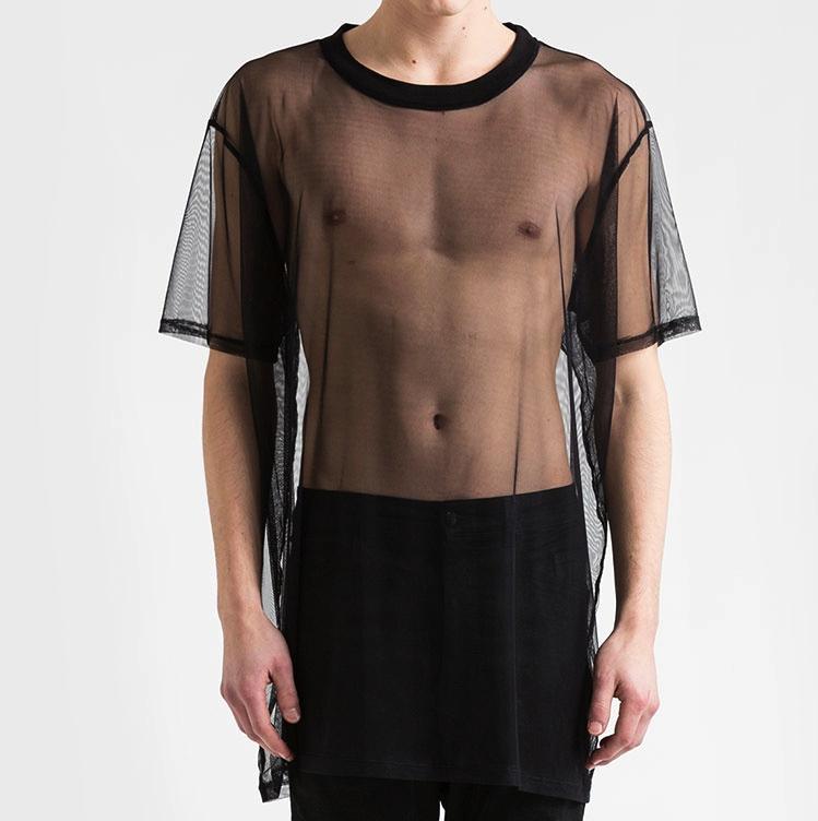 Victims Store Odeur Oversize T Shirt Black Mesh Mens