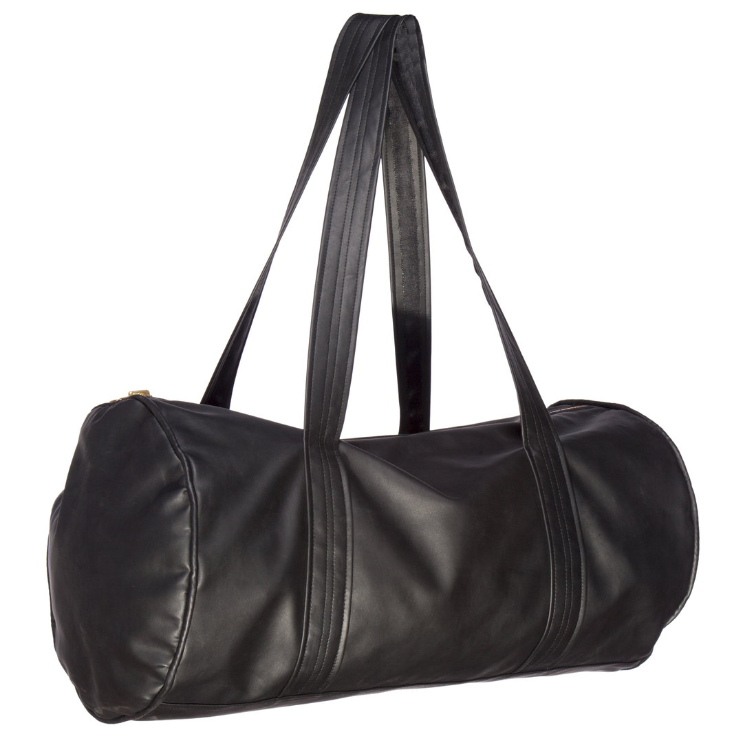 TRAY STYLING BLACK ECO-LEATHER GYM-BAG