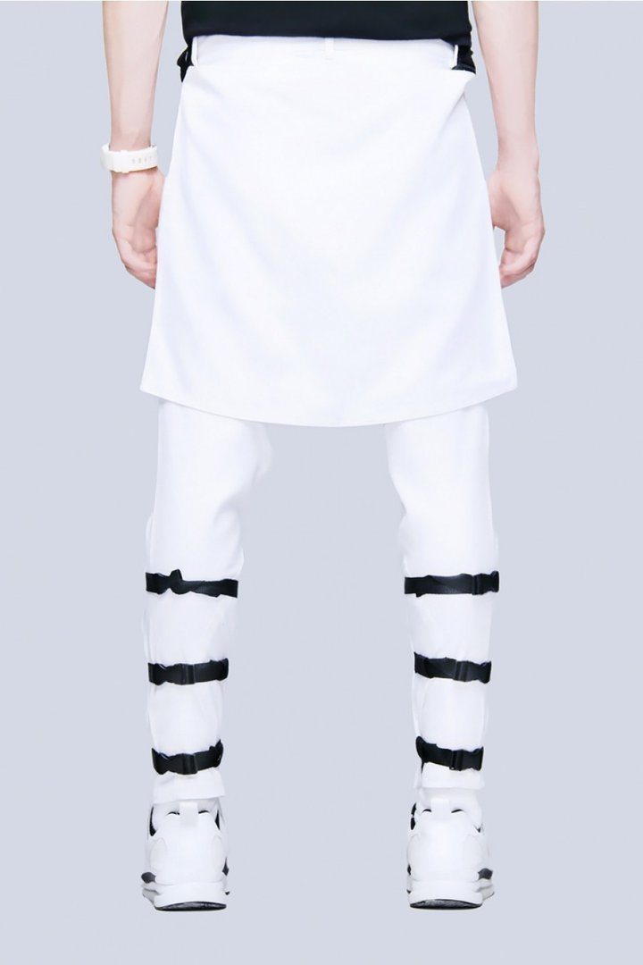 LONG CLOTHING CLIP PANTS WHITE