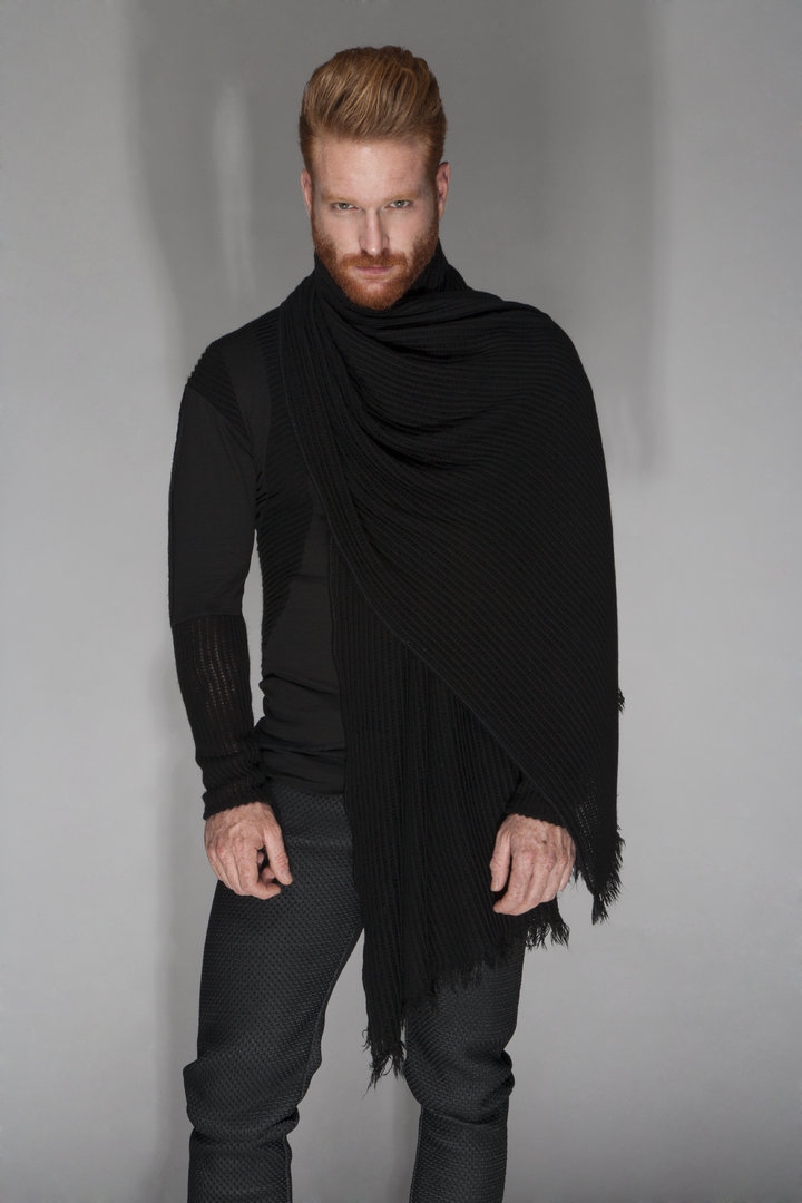 TRAY STYLING BLACK XL SCARF