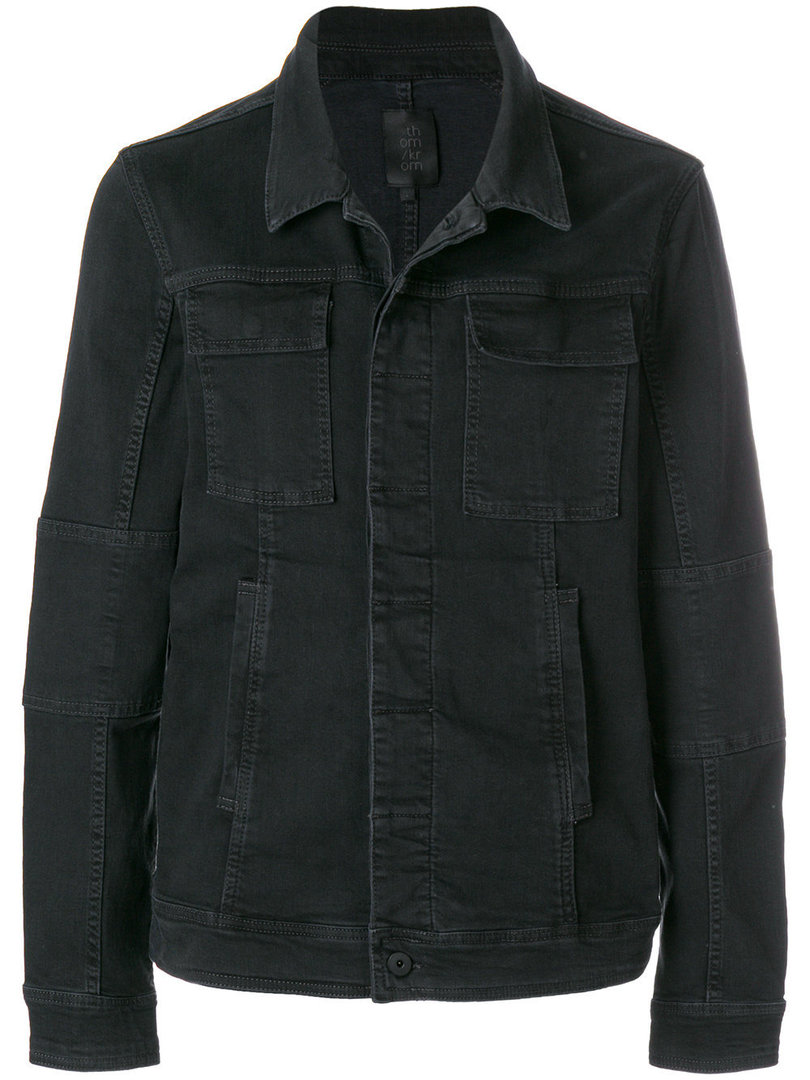 THOM KROM DENIM CASUAL JACKET BLACK OIL