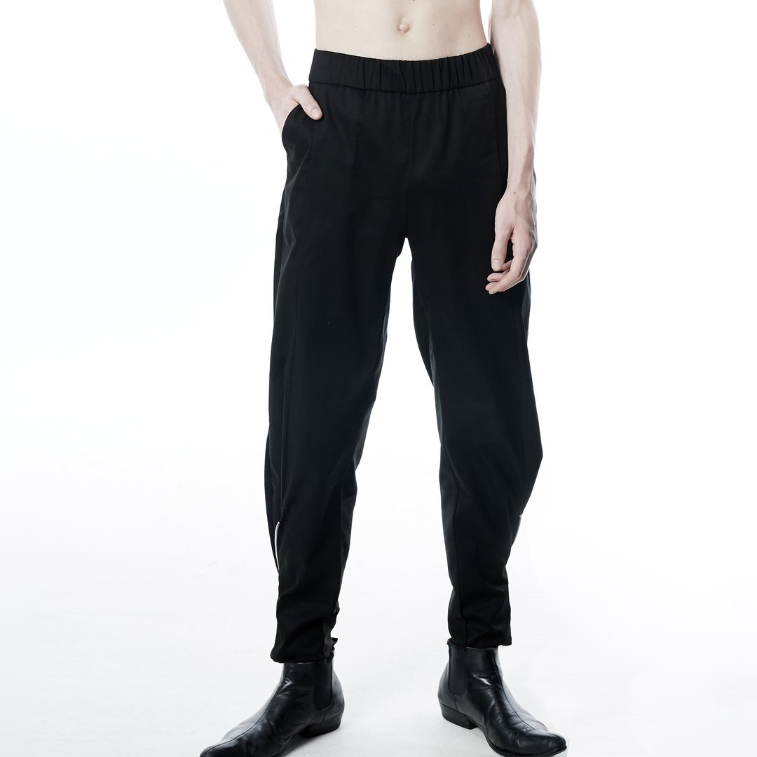 UY STUDIO ZIPZOP PANTS BLACK