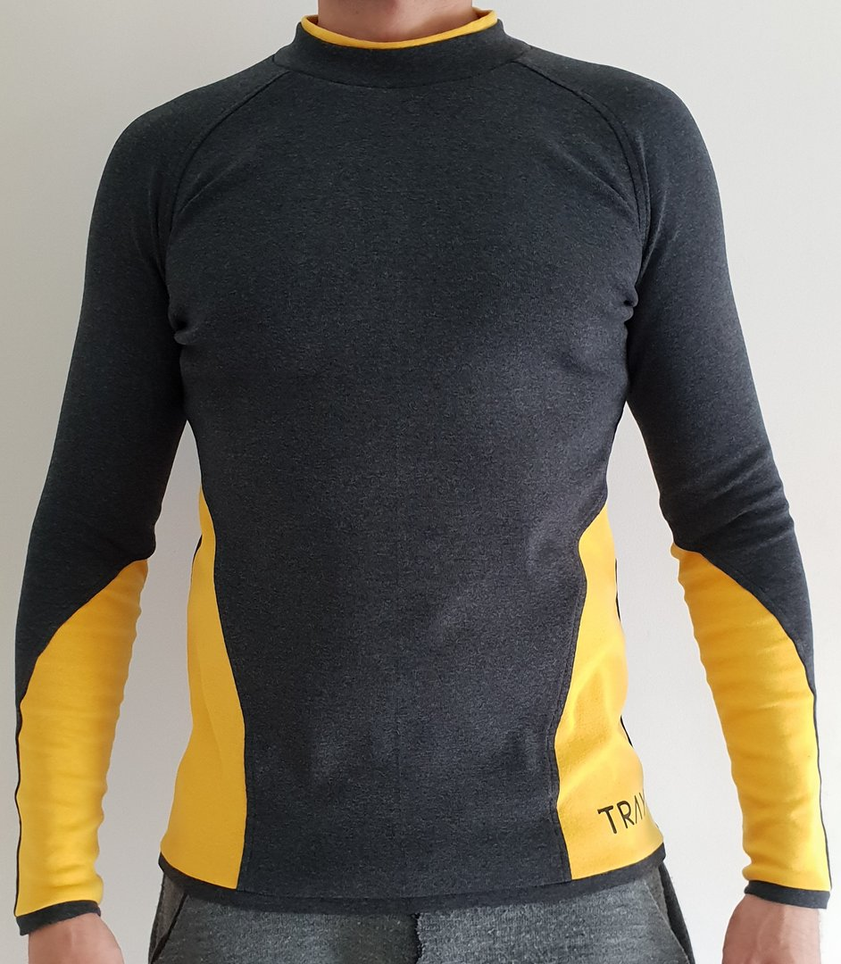 TRAY STYLING DARK ARMY SWEATER BLACK/YELLOW