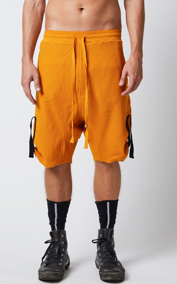 THOM KROM YELLOW LINEN SHORT