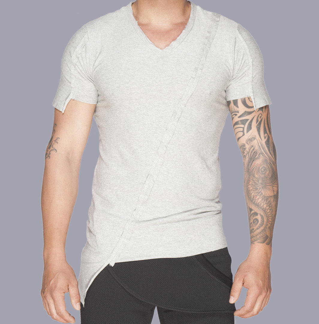 TRAY STYLING GREY CRATER T-SHIRT