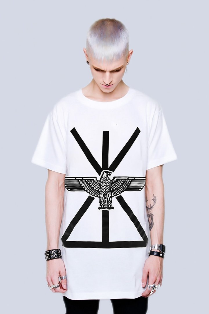 LONG CLOTHING T-SHIRT BOY UNION WHITE