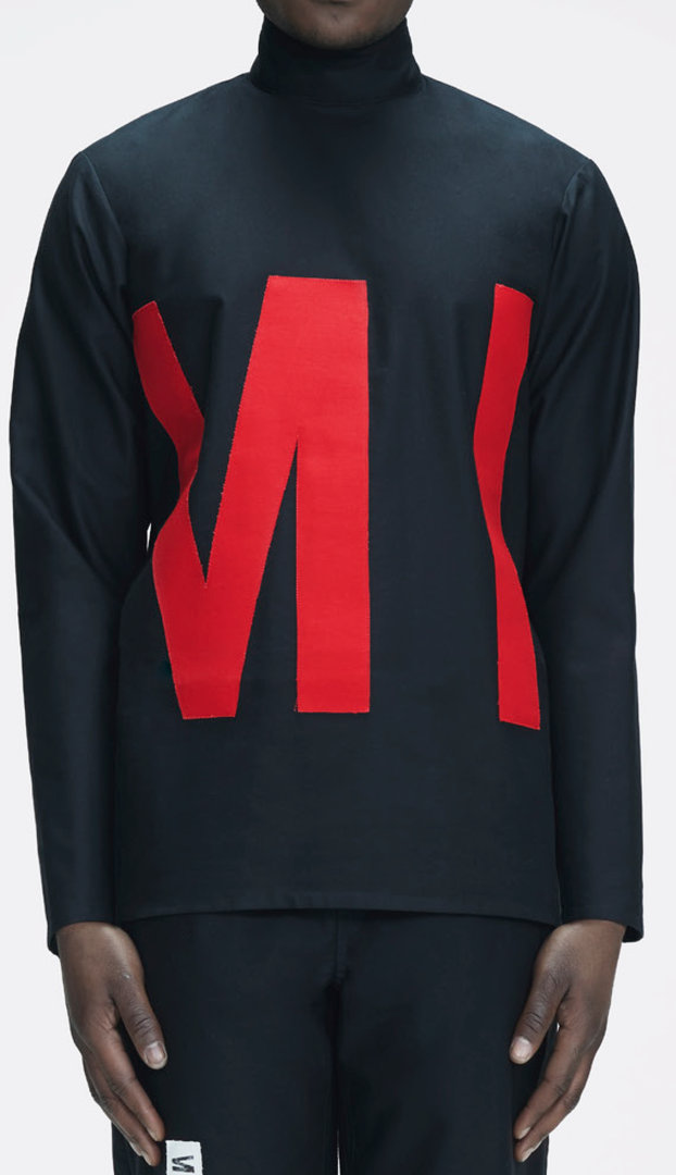 MLTV LOGO SHIRT BLACK AND RED