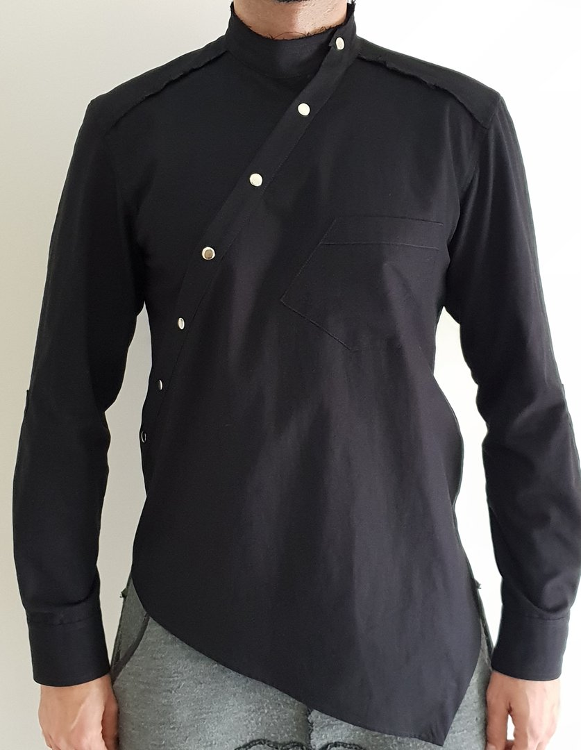 TRAY STYLING DARK ARMY VERTICAL SHIRT