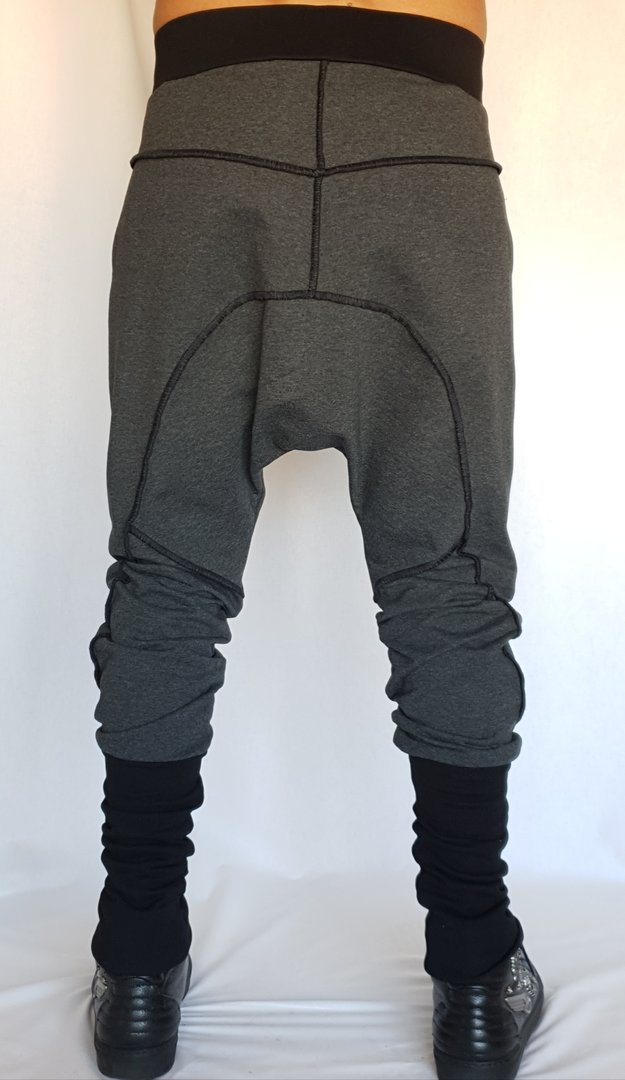 DARK ARMY by Tray Styling DROP PANTS GREY