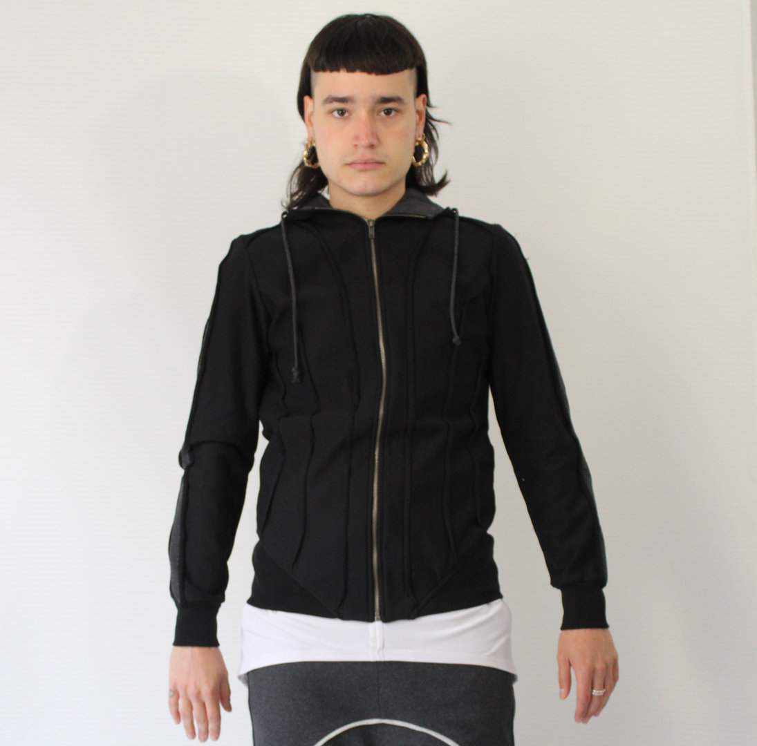 DARK ARMY by Tray Styling HOOD ASTRO JACKET BLACK