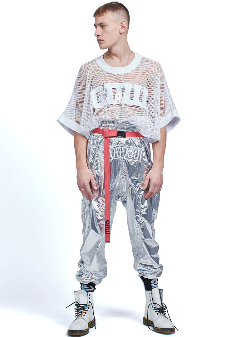 ROBERT KUPISZ COSMIC TROUSERS  SILVER