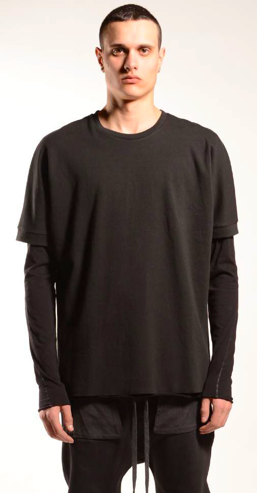 THOM KROM DOUBLE-LAYER T-SHIRT