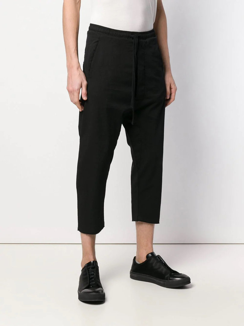 THOM KROM BLACK CROP TROUSER