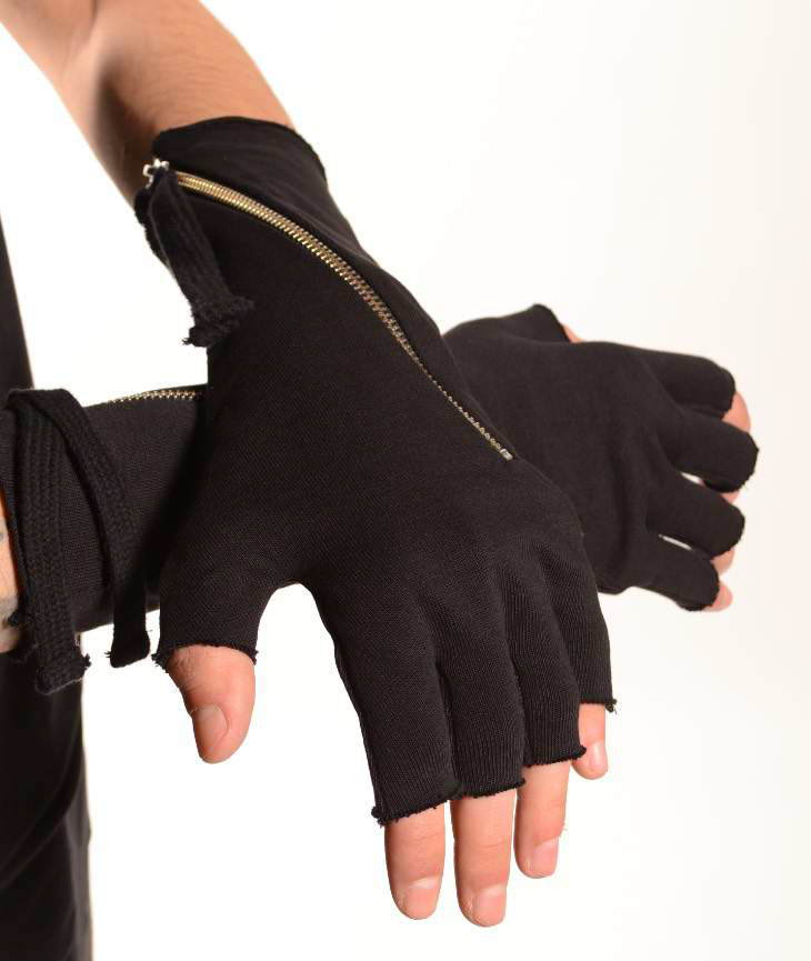 THOM KROM GLOVES BLACK