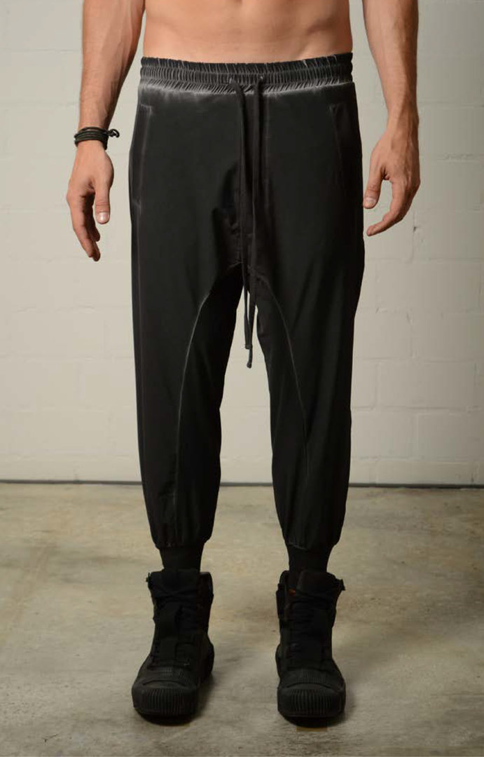THOM KROM BLACK OIL PANTS