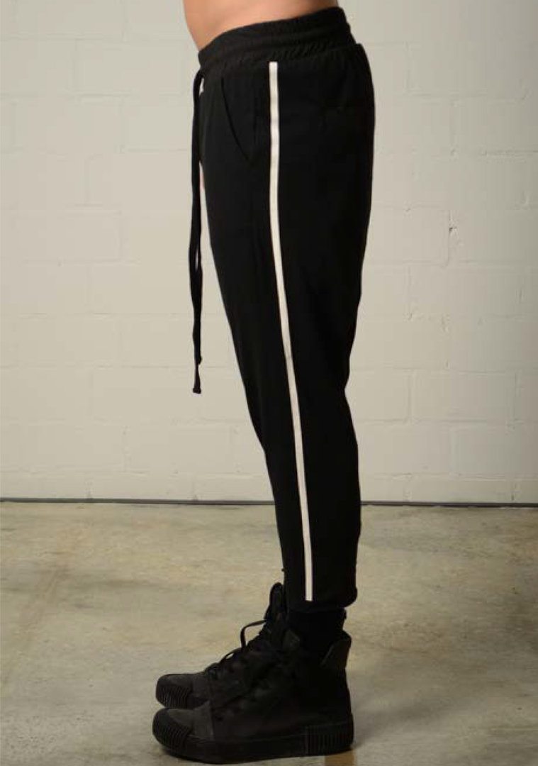 THOM KROM BLACK TRACK PANTS