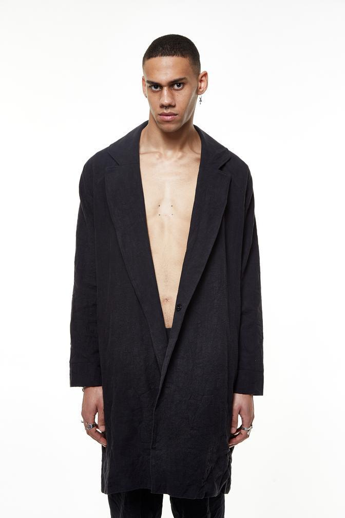 UY STUDIO LINING COAT - BLACK