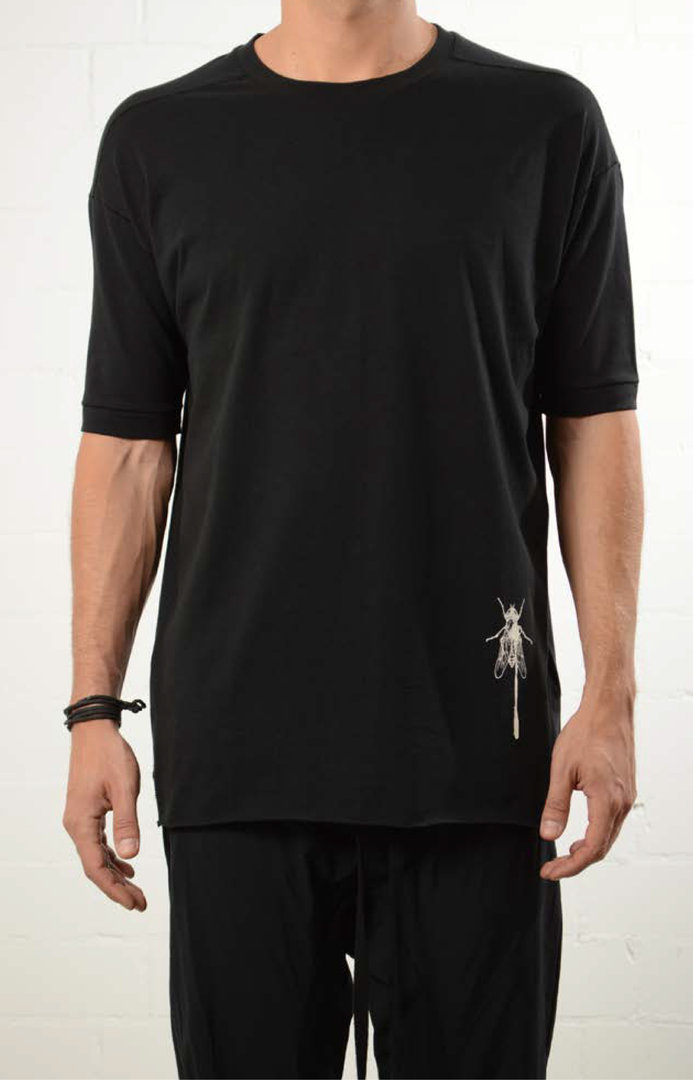 THOM KROM BLACK INSECT T-SHIRT