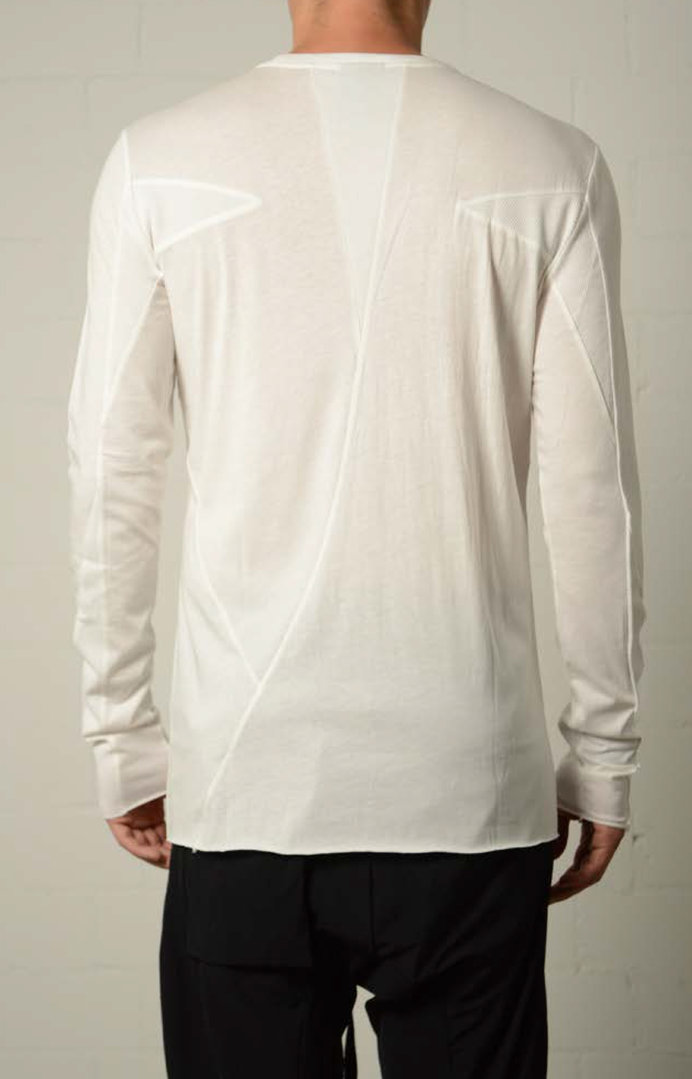 THOM KROM T-SHIRT LONG SLEEVES OFFWHITE