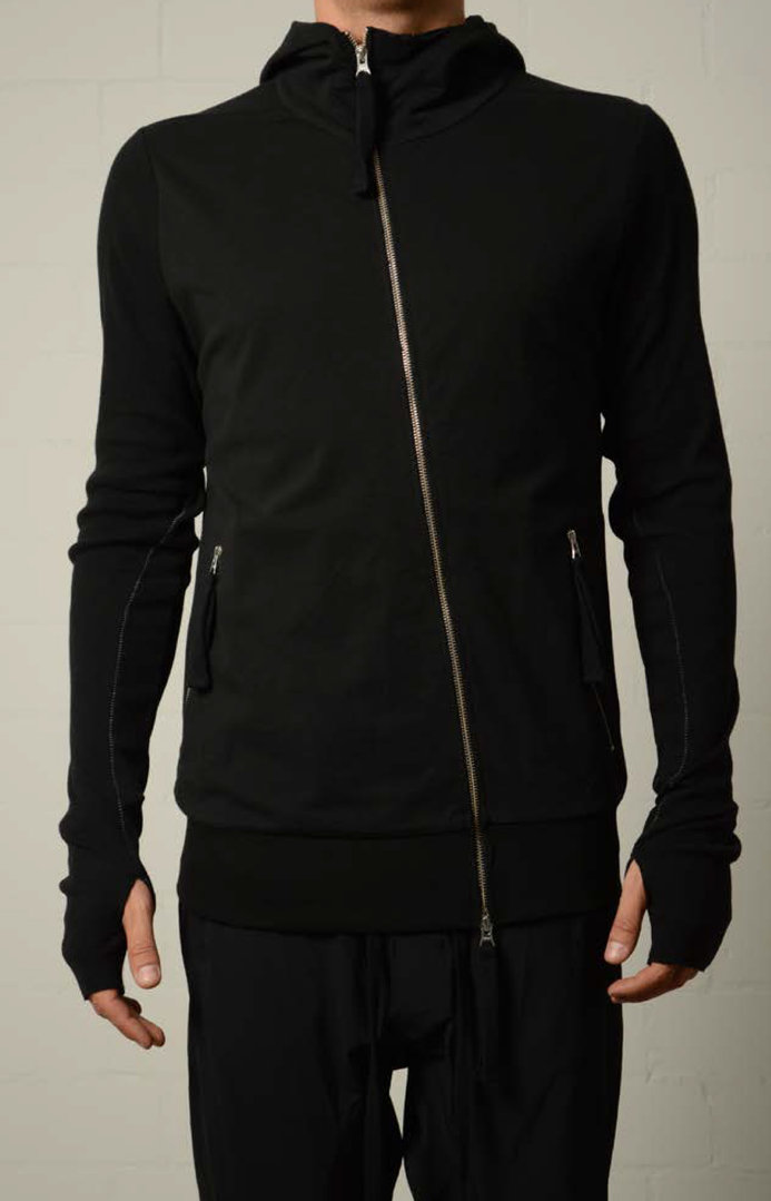 THOM KROM VERTICAL SWEAT HODDIE JACKET