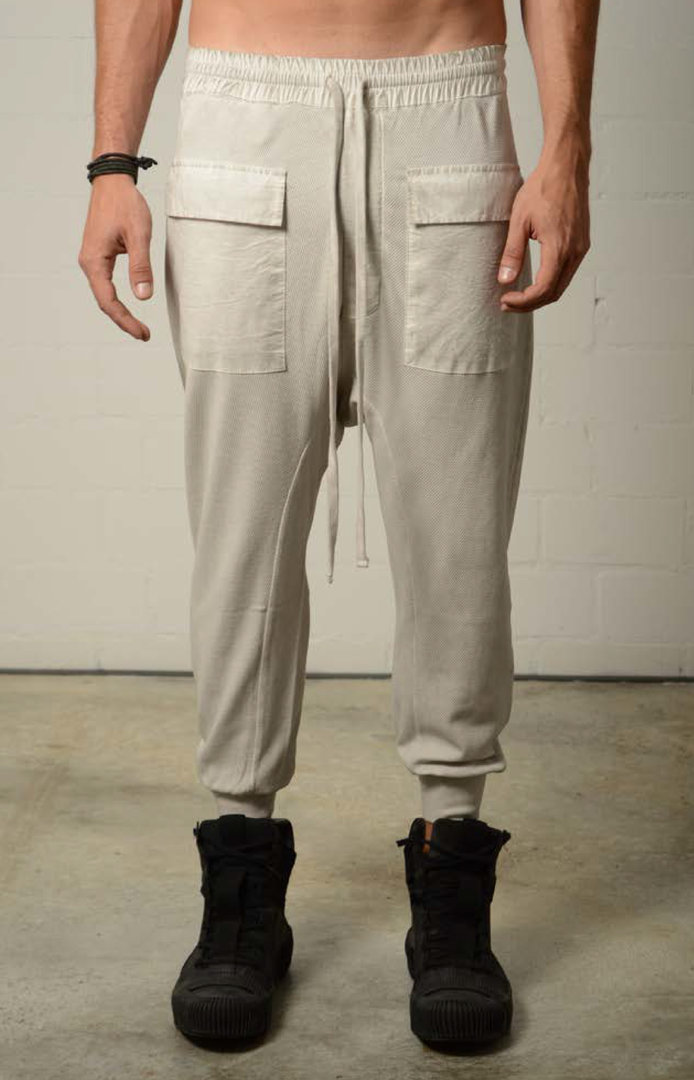 THOM KROM OFF WHITE OIL PANTS