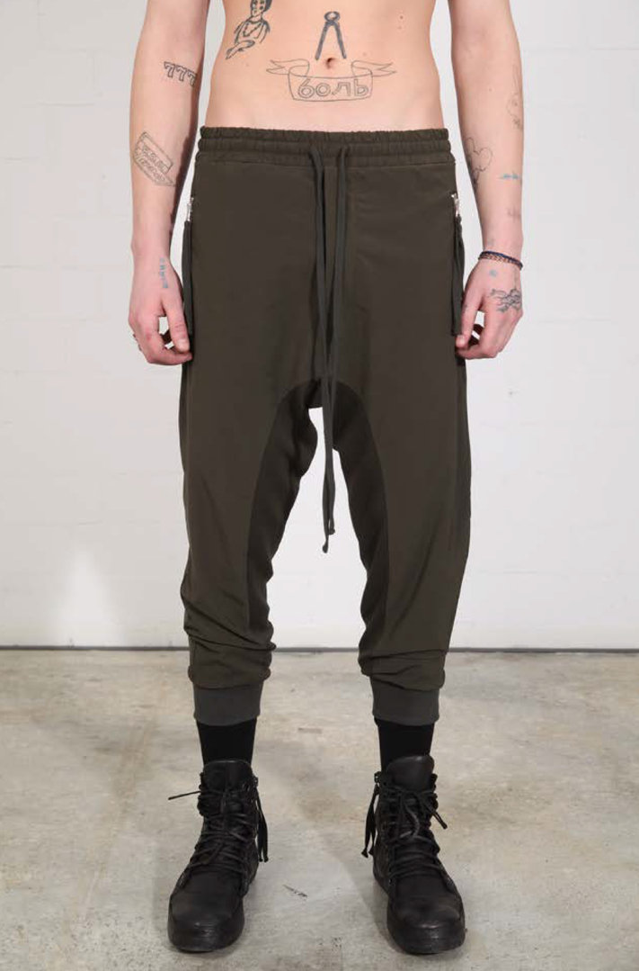 THOM KROM GREEN WOVEN TROUSERS