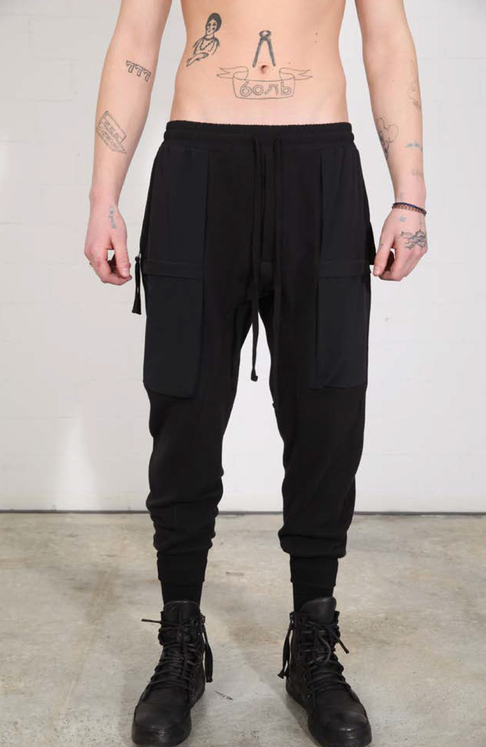 THOM KROM SWEAT BLACK TROUSERS