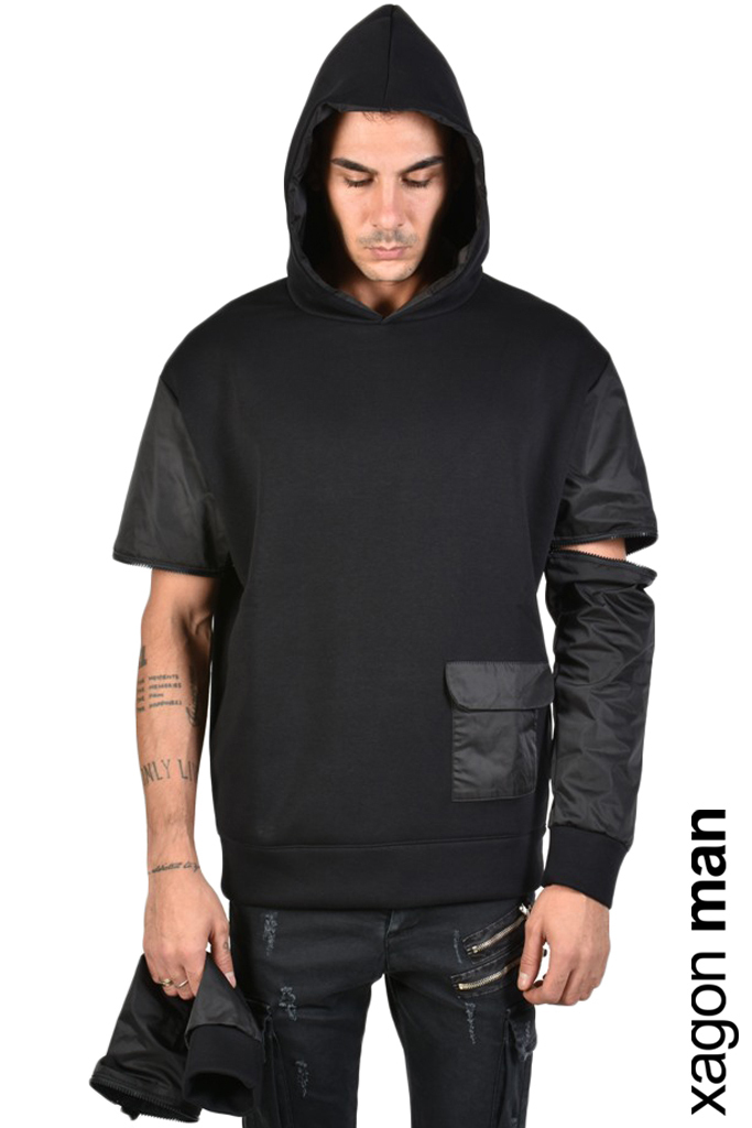 XAGON SWEATER FLEECE OVERSIZE NYLON INSERTS