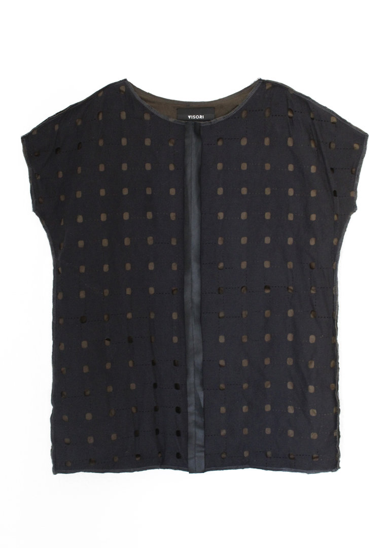 VISORI STUDIO DOUBLE PERFORATED SWEATER