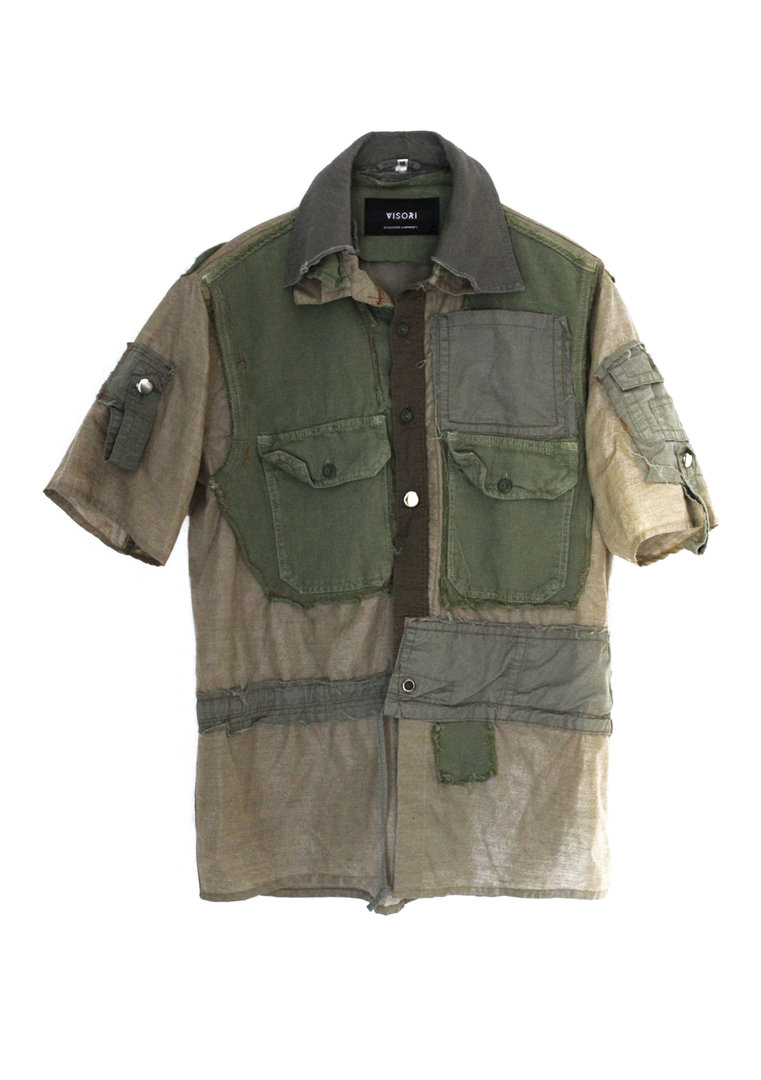 VISORI STUDIO RANGER POCKETS ARMY SHIRT