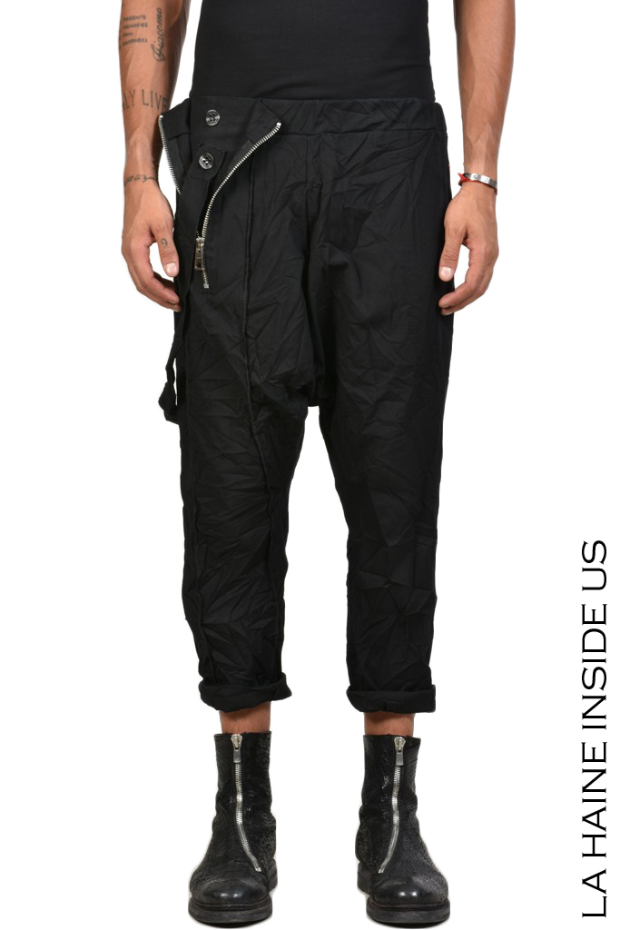 LA HAINE INSIDE US BARAKUS TROUSER Piquet Stretch Black