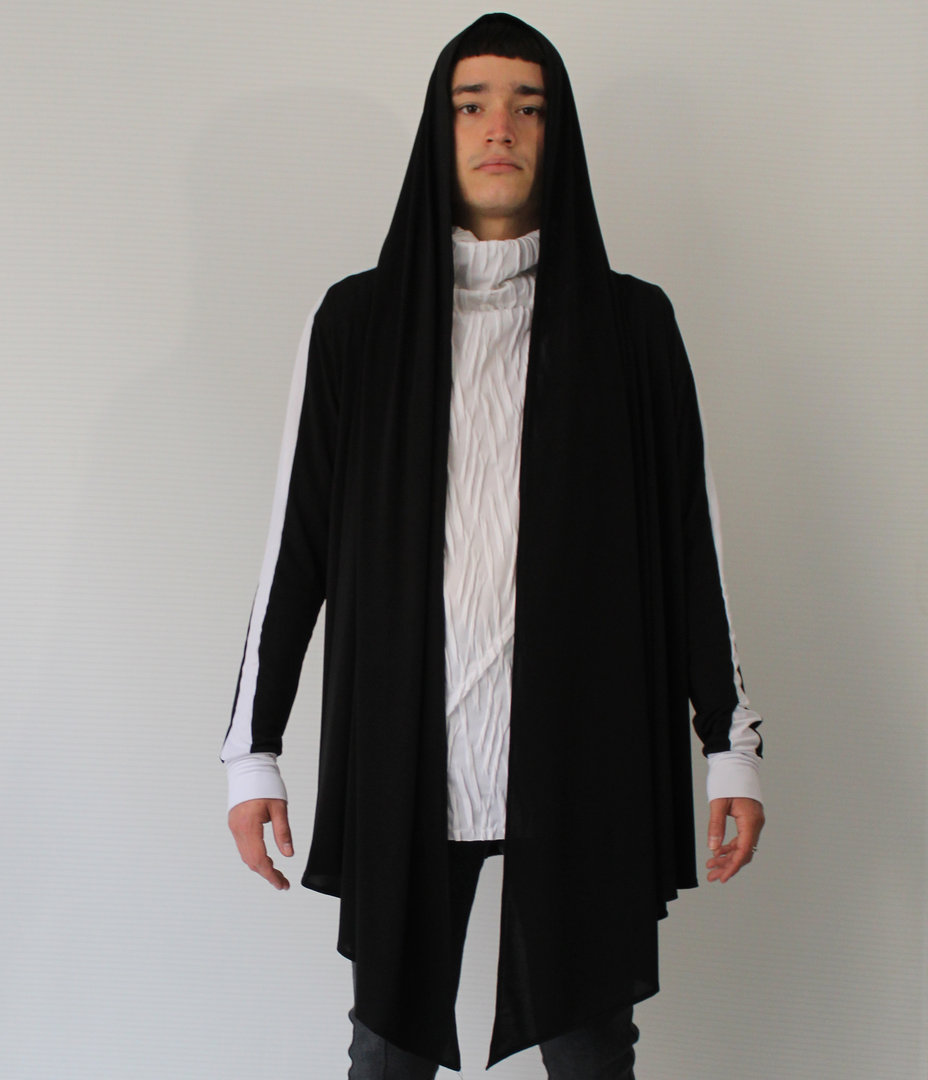 DARK ARMY by Tray Styling BLACK TRACK ASTRO CARDIGAN